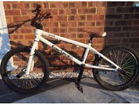 BMX Stunt Bike bicycle Custom Ordered White with Font and rear pegs