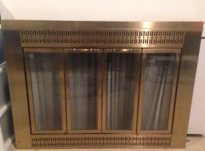 Brass fireplace doors - 34.5 inches x 25 inches