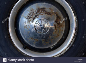 Looking for Rusty VW hubcaps