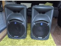 Mackie SRM450 speakers x2 good working order