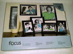 Focus 6 piece black wooden photo frame decorative accent London Ontario image 4