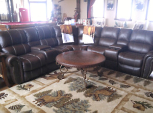 100% Leather Sectional just like new.
