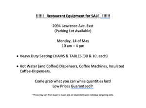 Restaurant Equipment for Sale! - Chair&TableSet, CoffeeMachines!