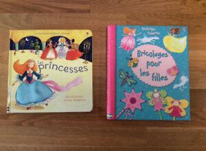 2 livres Usborne pour jeunes filles ,Impeccables, -Bricolages