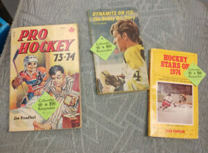 Various 1960s - 1980's NHL Hockey Books/Magazines