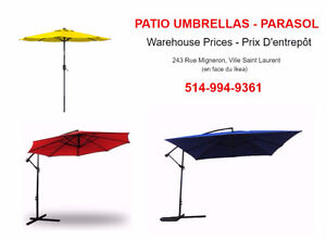 Outdoor Patio Umbrellas  - Parasol  ALL COLORS & SIZES