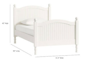 Pottery Barn Kids' White Twin Catalina Bed Frame - Barely Used!