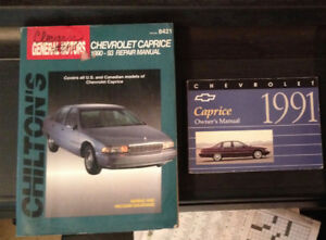1991 Chev Caprice owners manual and repair manual