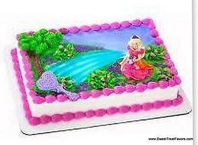 BARBIE DIAMOND CupCake Decoration CAKE Topper Favors Birthday Supplies Princess - Princess Cake Decorating Supplies
