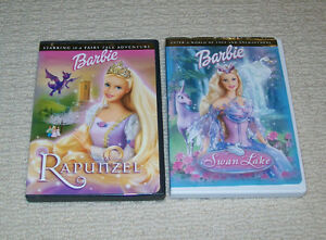 Barbie DVDs - Rapunzel and Swan Lake