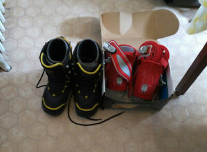 Size 10 Snowboard Boots and Bindings slightly used