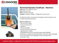 Restricted Operator Certificate - Maritime, Parry Sound