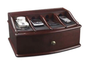 Bombay Company Mahogany Wood Charging Station