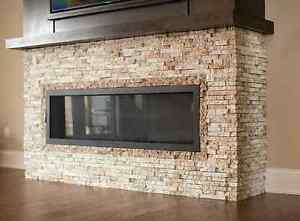 Split-stone Granite veneers for kitchens or feature walls London Ontario image 4