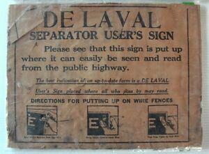 VINTAGE DeLaval Sign Instructions