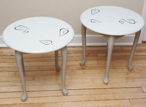 Hand-Painted End Tables West Island Greater Montréal image 1