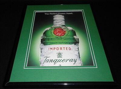 1993 Tanqueray Gin Frozen Asset Framed 11x14 ORIGINAL Advertisement