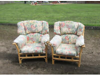 PAIR M&S CONSERVERTORY CHAIRS