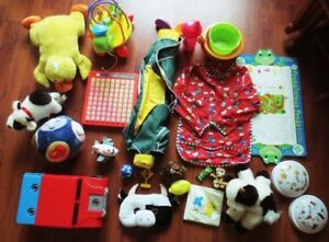 *Lot of Baby toys, feeding gear for sale**Price REDUCED + Added