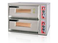 """ELECTRIC PIZZA OVEN - DOUBLE DECK BRAND NEW CANMAC CATERING 8x12"""" Pizza"""