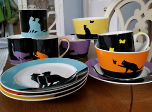 Adorable Cat Breakfast Set Dishes