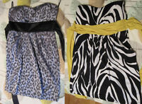 Animal Print Leopard Zebra Party Cruise Vacation Dresses Sz L 13