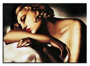 Tamara de Lempicka - Die Schläferin 90x60cm Leinwand Kunstdruck