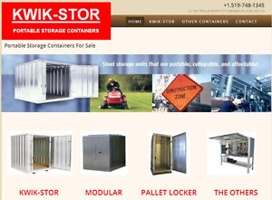 KWIK-STOR PORTABLE STORAGE CONTAINERS. KWIK-STOR STORAGE UNITS