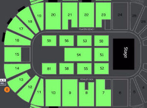 Foxworthy / Larry The Cable Guy 1ST / 2ND ROW FLOOR Tickets !!!