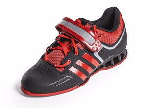 Adidas Adipower weightlifting / training shoes - black/red 11.5