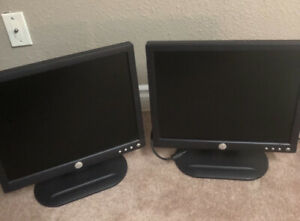 "Dell monitors x2 (17"" $40 each or best offer)"