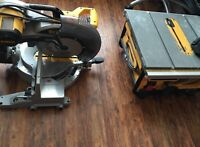 """12"""" Sliding Compound Miter Saw  10"""" Compact Table Saw"""