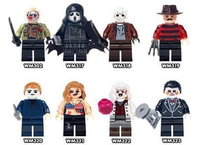 8PCS HORROR THEME MOVIE Jason Scream Killer Freddy Krueger Halloween Toys Kids - Halloween Jason Theme