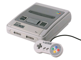 Snes console with official pad