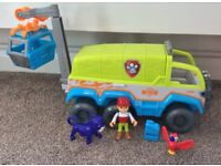 Paw Patrol Jungle Rescue Paw Terrain Vehicle including 4 Pups Excellent Condition