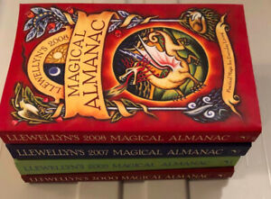 4 Old Llewellyn Magical Almanacs - Like New! Wicca, Witchcraft