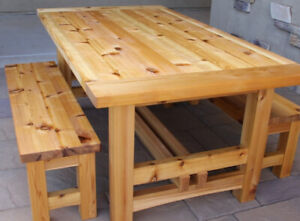 Rustic Table with Benches ! SAVE $ 300 !
