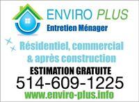 Entretien Ménager commercial ENVIRO-PLUS Montréal, Laval et +