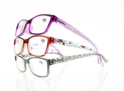 Fashion Flowers Lattice Nerd Geek Presbyopia Reading Glasses +1.00~+4.00 (Geek Flowers)