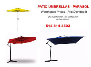 warehouse sale. square umbrella 11ft on special for $120!!!