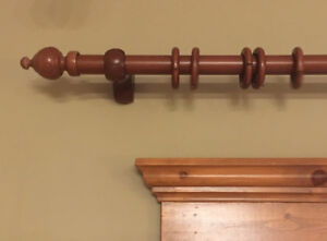 Decorative Wooden Curtain Rods (2)