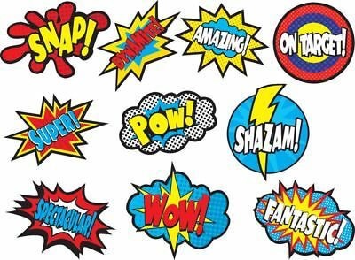 TCR 5835 Super Hero Sayings Cut Outs Bulletin Board Classroom Decorations - Superhero Classroom Decor