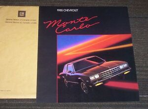new car sales brochure 1985 chevy Monte Carlo Kitchener / Waterloo Kitchener Area image 1