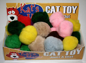 Cat Toys 2 inch Acrylic pompoms (35 per box) Kitchener / Waterloo Kitchener Area image 1