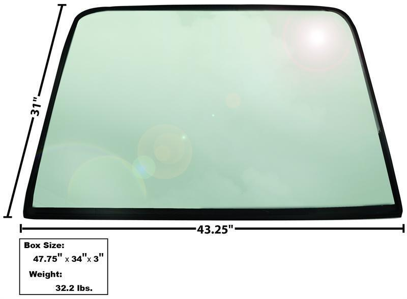 1969-70 Mustang Fastback Rear Window Tinted Glass w/ Rubber Seal New