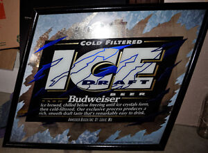 Glass Budweiser Sign