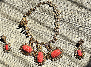 Gold Plated Custom Jewellery with coral beads