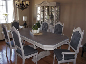 Refinished Solid Oak Dining Set - New Price