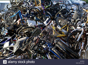 free bicycle and scrap metal drop off site