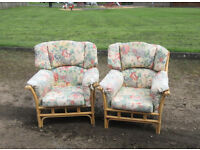 PAIR M&S CONSERVATORY CHAIRS